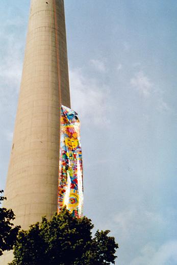 Foto von Olympia-Flagge für Weltfrieden