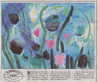 Zeitungsauschnitt Ubahn-Galerie